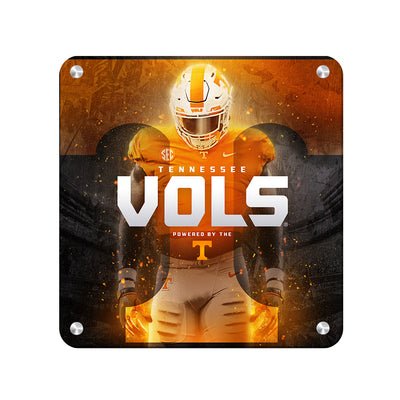 Tennessee Volunteers - Powered By The T Vols - College Wall Art #Metal