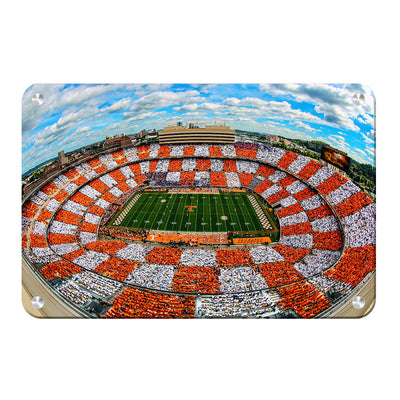 Checkerboard Neyland - College Wall Art #Metal