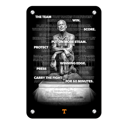 Tennessee Volunteers - Game Maxims - College Wall Art #Metal