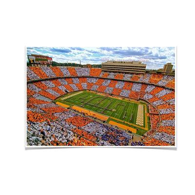 Tennessee Volunteers - Aerial Neyland Checkerboard - College Wall Art #Poster