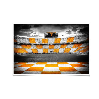 Tennessee Volunteers - Checkerboard Neyland - College Wall Art #Poster