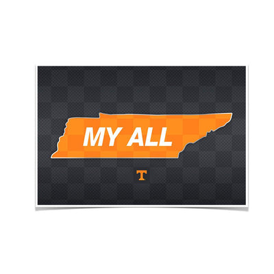 Tennessee Volunteers - My All - College Wall Art #Poster