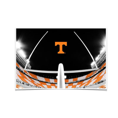 Tennessee Volunteers - Checkerboard Goal Post - College Wall Art #Poster