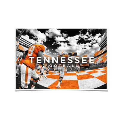 Tennessee Volunteers - Running Through the T Nike - College Wall Art #Poster