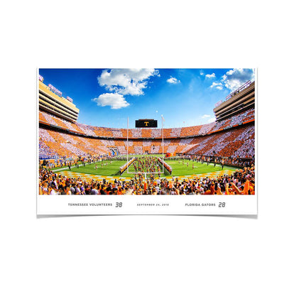 Tennessee Volunteers - Running Through the T UT-FL Score - College Wall Art #Poster