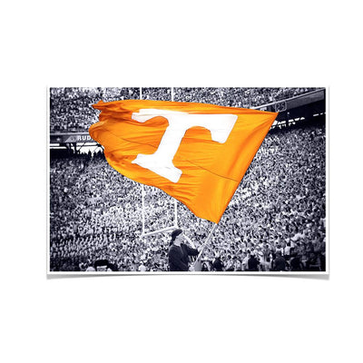 Tennessee Volunteers - Smokey Flag - College Wall Art #Poster