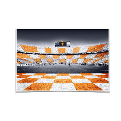 Tennessee Volunteers - Reverse Checkerboard - College Wall Art #Poster