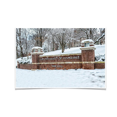 Tennessee Volunteers - Snowy Hill - College Wall Art #Poster