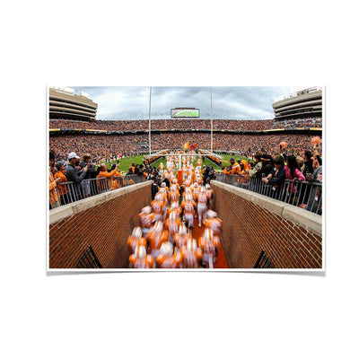 Tennessee Volunteers - Running Onto the Field 2016 - College Wall Art #Poster