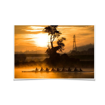 Tennessee Volunteers - Sunrise Row - College Wall Art #Poster