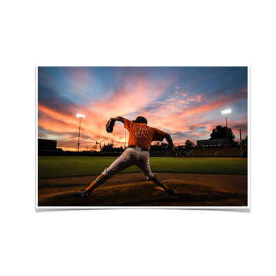 Tennessee Volunteers - Sunset Pitch - College Wall Art #Poster