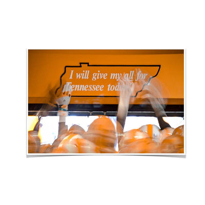 Tennessee Volunteers - Give My All - College Wall Art #Poster