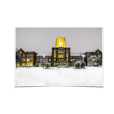 Tennessee Volunteers - Ayres Hall Winter Day - College Wall Art #Poster