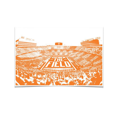 Tennessee Volunteers - Down The Field - College Wall Art #Poster