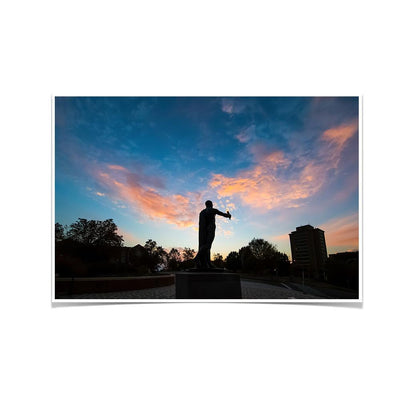 Tennessee Volunteers - Torchbearer Sunset - College Wall Art #Poster
