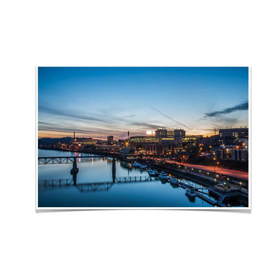 Tennessee Volunteers - River Night - College Wall Art #Poster