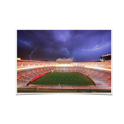 Tennessee Volunteers - Lightning Over Neyland - College Wall Art #Poster