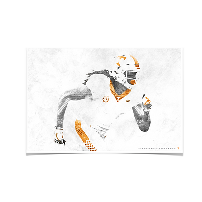 Tennessee Volunteers - Double Exposure T - College Wall Art #Poster