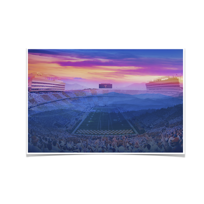 Tennessee Volunteers - Tennessee Mountain Sunset - College Wall Art #Poster