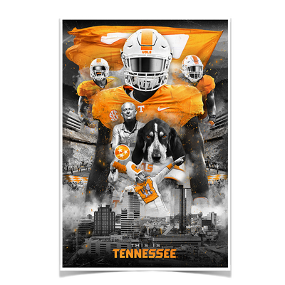 Tennessee Volunteers - This is Tennessee - College Wall Art #Poster