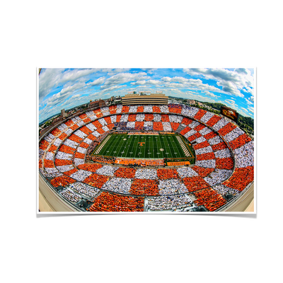 Tennessee Volunteers - Aerial Fisheye Checkerboard Neyland - College Wall Art #Poster