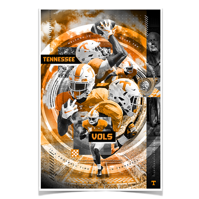 Tennessee Volunteers - Football Time - College Wall Art #Poster