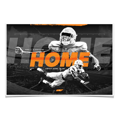 Tennessee Volunteers - Home - College Wall Art #Poster