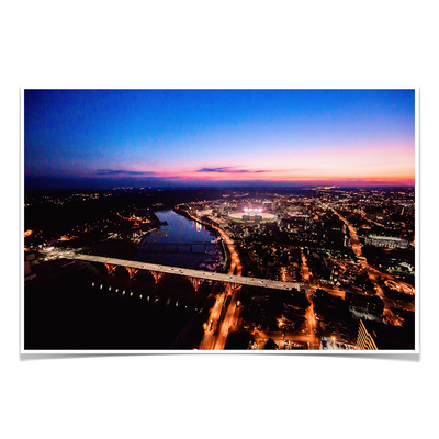 Tennessee Volunteers - Aerial sunset over Neyland - College Wall Art #Poster