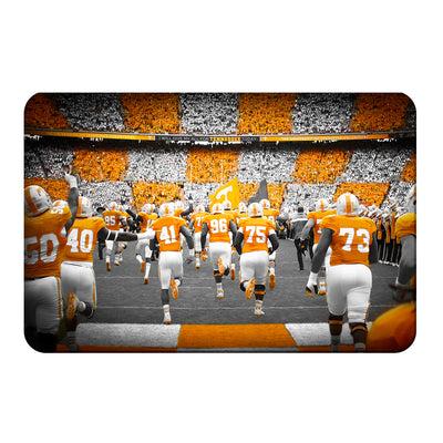 Tennessee Volunteers - Running Onto the Checkerboard Field - College Wall Art #PVC