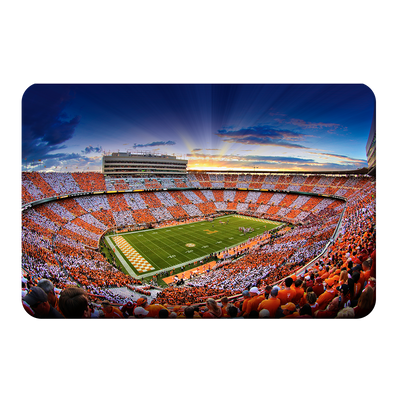 Tennessee Volunteers - Checkerboard Sunset - College Wall Art #PVC