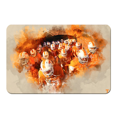 Tennessee Volunteers - Taking the Field Watercolor - College Wall Art #PVC