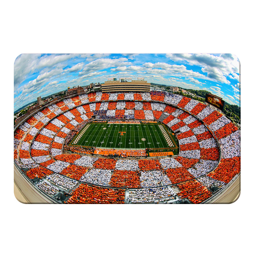 Tennessee Volunteers - Aerial Fisheye Checkerboard Neyland - College Wall Art #Canvas