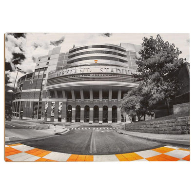 Tennessee Volunteers - Neyland B&W - College Wall Art #Wood