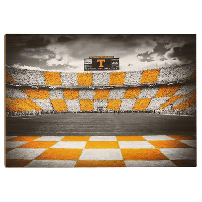 Tennessee Volunteers - Checkerboard Neyland - College Wall Art #Wood