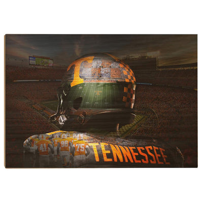 Tennessee Volunteers - TN Football - College Wall Art #Wood
