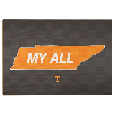 Tennessee Volunteers - My All - College Wall Art #Wood