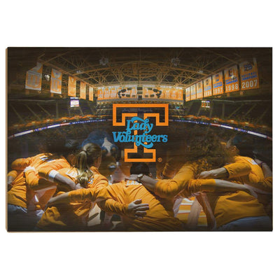 Tennessee Volunteers - Lady Vols - College Wall Art #Wood