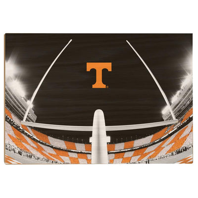 Tennessee Volunteers - Checkerboard Goal Post - College Wall Art #Wood