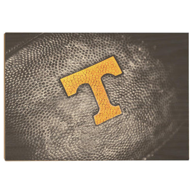 Tennessee Volunteers - Power T Football - College Wall Art #Wood