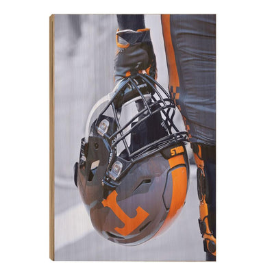 Tennessee Volunteers - Smokey Helmet - College Wall Art #Wood