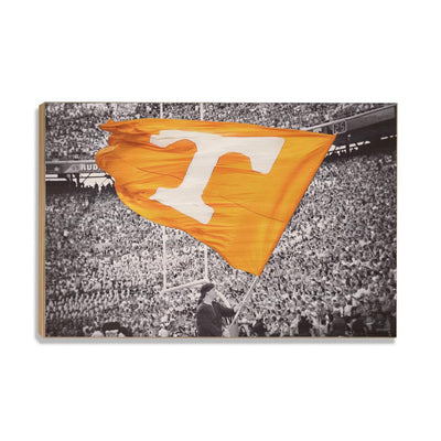 Tennessee Volunteers - Smokey Flag - College Wall Art #Wood