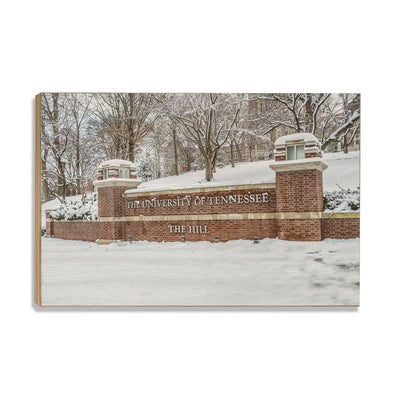 Tennessee Volunteers - Snowy Hill - College Wall Art #Wood