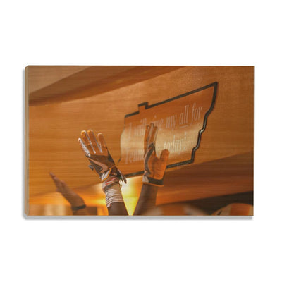 Tennessee Volunteers - I Will Give My All High Five - College Wall Art #Wood