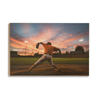 Tennessee Volunteers - Sunset Pitch - College Wall Art #Wood