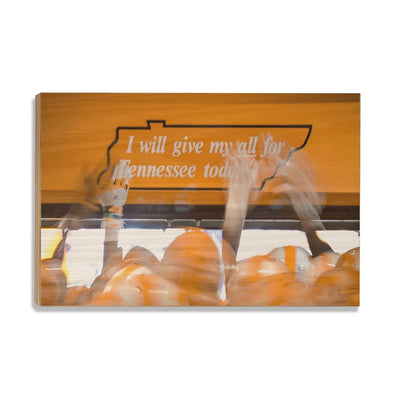 Tennessee Volunteers - Give My All - College Wall Art #Wood