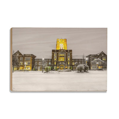 Tennessee Volunteers - Ayres Hall Winter Day - College Wall Art #Wood