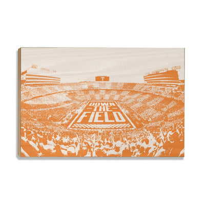 Tennessee Volunteers - Down The Field - College Wall Art #Wood