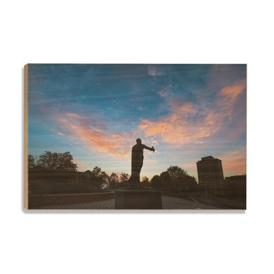 Tennessee Volunteers - Torchbearer Sunset - College Wall Art #Wood