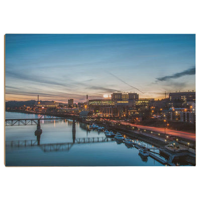 Tennessee Volunteers - River Night - College Wall Art #Wood