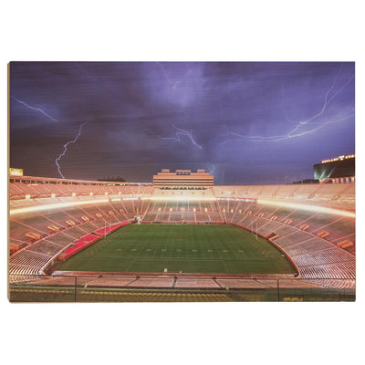 Tennessee Volunteers - Lightning Over Neyland - College Wall Art #Wood